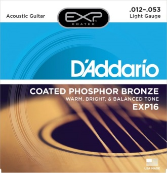 D'Addario EXP 16 012-053 Coated Phosphor Bronze