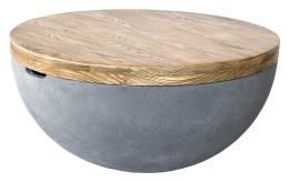 Douglas Soffbord, Ø80cm, ek/cement