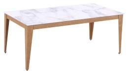 Robin Matbord, 180x90, ljus marmor/ek