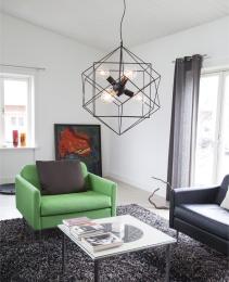 Hexagon Ø63cm Svart matt