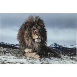 Proud Lion glastavla 120x180 cm