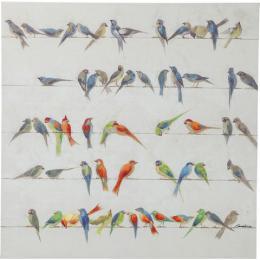 Birds meeting tavla 100x100 cm