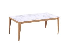 Robin Soffbord, 120x60, ljus marmor/ek