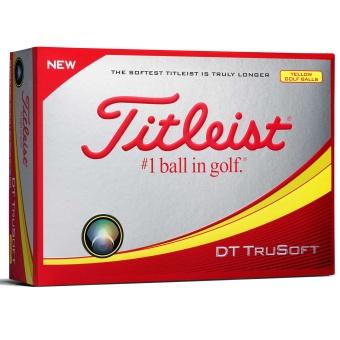 Titleist DT TruSoft Golfbollar Gula