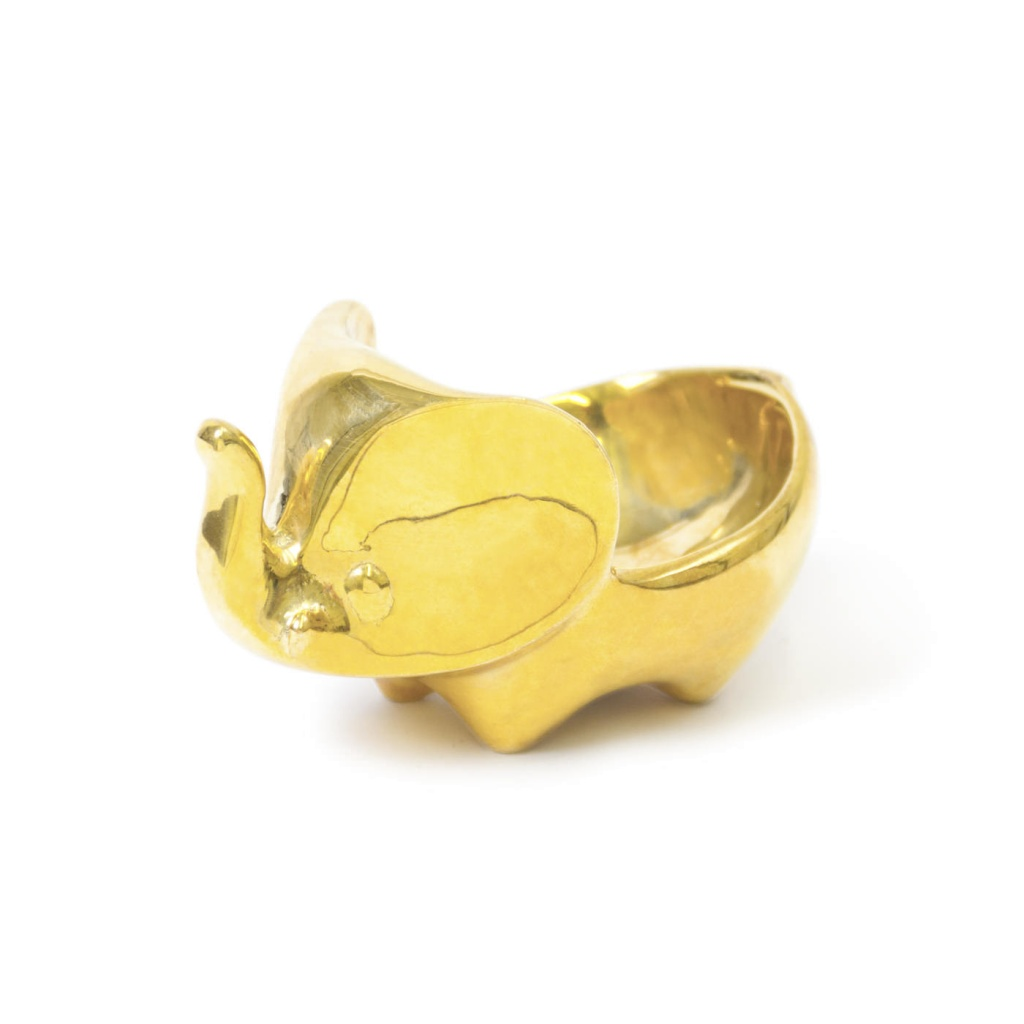 jonathan adler brass elephant bowl by binett. Black Bedroom Furniture Sets. Home Design Ideas