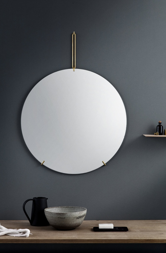 Moebe Wall Mirror Brass 70