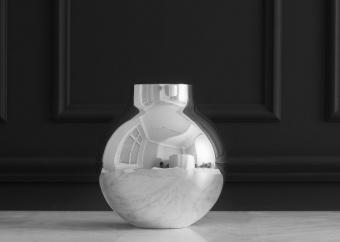 Skultuna Boule Vase Large Silver