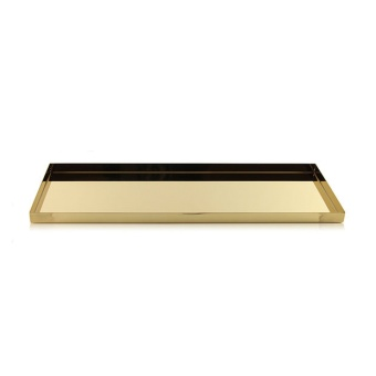 Cooee Tray LGE  Brass