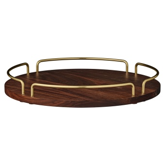 AYTM Vitta Tray Walnut/Gold