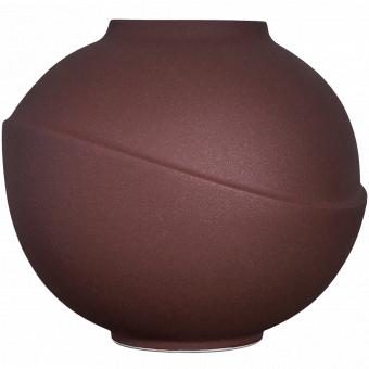 AEO Vase Big Bubble Rusty Red