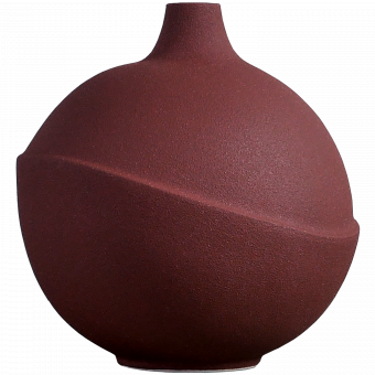 AEO Vase Bubble Rusty Red
