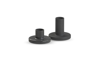 Cooee Ceramic Candlestick Black