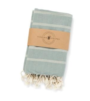 Ticking Stripes Hamam Handduk Dirty Pistage