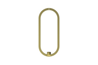 Cooee Oval Hanging Candleholder Brass