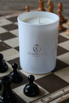 K. Lundqvist Doftljus Hot Couture White Candle