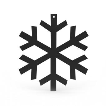 Cooee Snowflake LGE 32 cm black