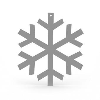 Cooee Snowflake LGE 32 cm grey