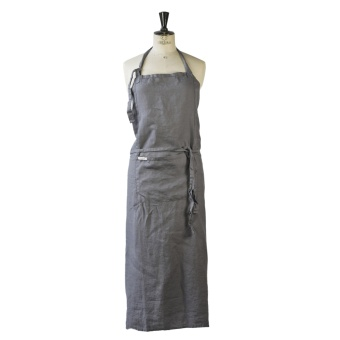 Tell Me More Apron Linen Dark Grey