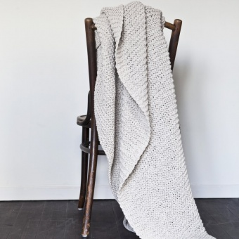Tell Me More Knitted Blanket