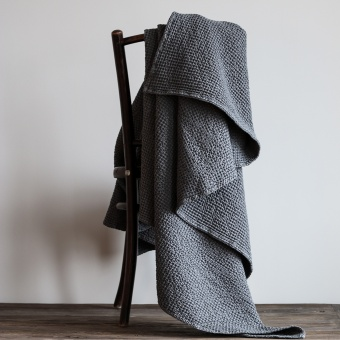 Tell Me More Miro Blanket Dark Grey