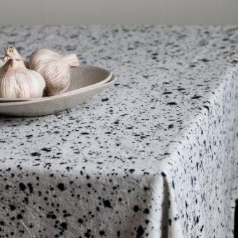 Tell Me More Splatter Table Cloth