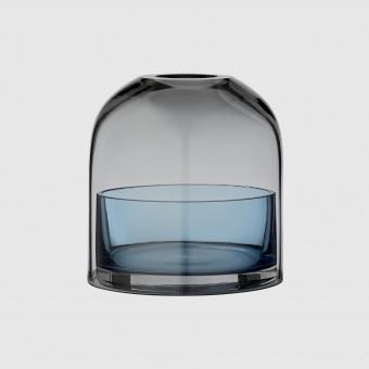 AYTM Ljuslykta Glas Black/Navy