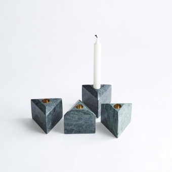 Louise Roe Candleholder Tricia Grön