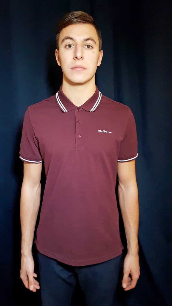 SCRIPT TIPPED POLO WINE