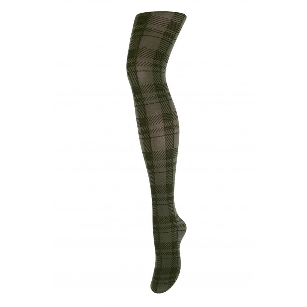Melanie - checkered tights - green