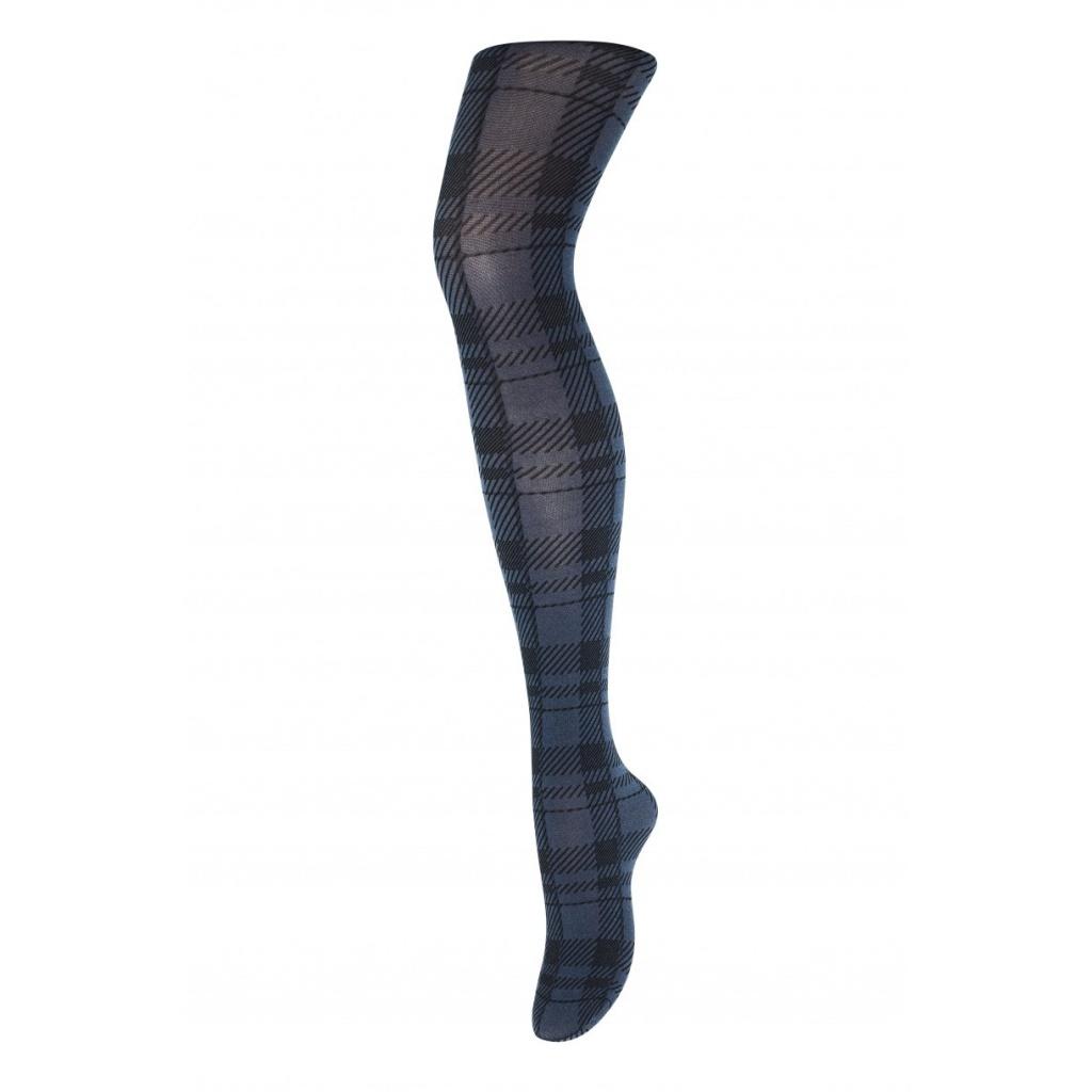 Melanie - checkered tights - blue