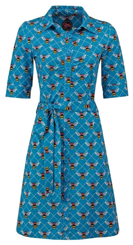 Button Down Dress Bee blue