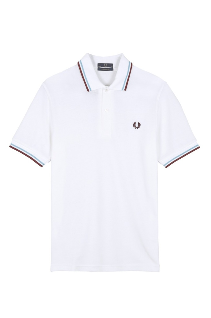 M12 The Fred Perry shirt white