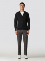 Merino Cardigan Black