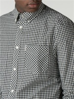 LS GINGHAM SHIRT Barely black