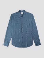Wallpaper geo shirt lake blue