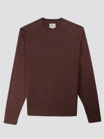 Mouline Crew Neck Rust