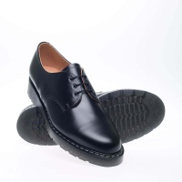 Black Hi Shine 3-Eyelet Gibson Shoe