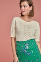 Audrey Top Heart Ajour cream