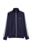 Taped track jacket carbon blue