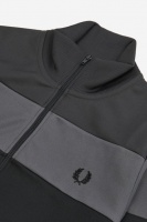 Colour Block Track Jacket Gunmetal