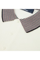 Stripe trim knitted shirt