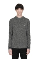 Tipped Crew Neck Jumper black