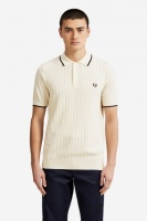 Textured Front Knitted Shirt Light Ecru