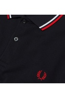 Twin tipped shirt navy/white/red