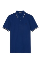 Twin tipped shirt medieval blue