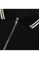 Zip neck pique shirt