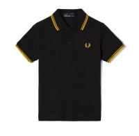 Kids polo shirt black/yellow