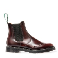 Burgundy Rub-Off Punched Dealer Boot