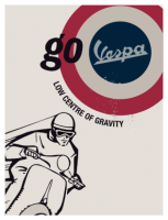 Vespa tin plate - go Vespa