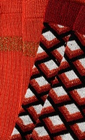 Socks 2-Pack Oddity red